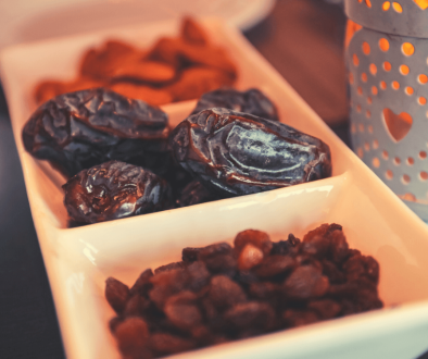 tray of dates, ramadan, lantern, iftar